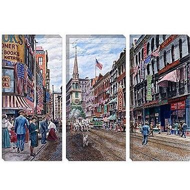 iCanvas 'Boston' by Stanton Manolakas Painting Print on Canvas; 8'' H x 12'' W x 0.75'' D
