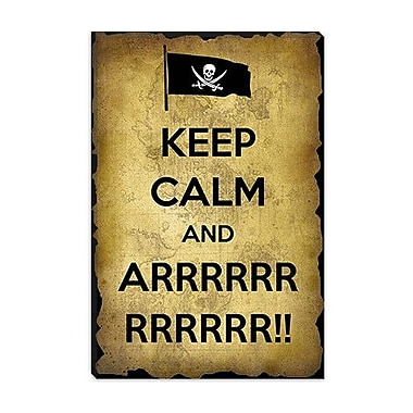 iCanvas Keep Calm and Arrrr Textual Art on Canvas; 18'' H x 12'' W x 1.5'' D
