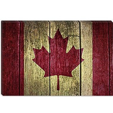 iCanvas Canadian Flag #2 Graphic Art on Canvas; 18'' H x 26'' W x 1.5'' D