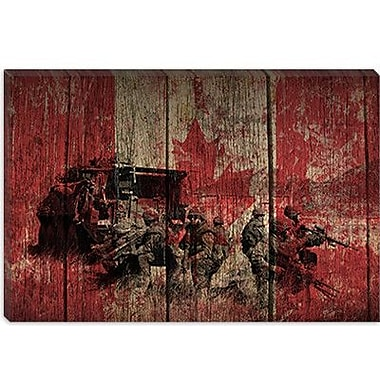 iCanvas Canadian Military Army #2 Graphic Art on Canvas; 40'' H x 60'' W x 1.5'' D