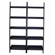 International Concepts Ladder Bookcase (Set of 2); Black