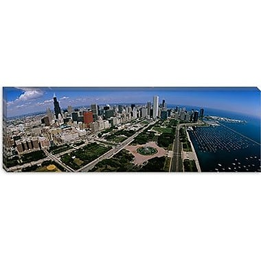 iCanvas Panoramic Skyscrapers in a City, Chicago, Illinois Photographic Print on Canvas