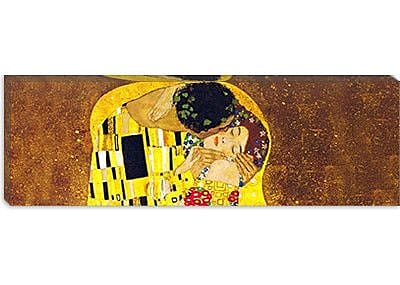 iCanvas 'The Kiss' by Gustav Klimt Painting Print on Wrapped Canvas; 16'' H x 48'' W x 1.5'' D