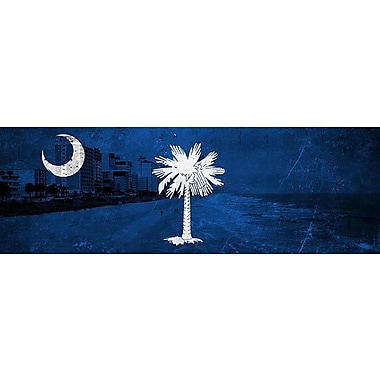 iCanvas Flags South Carolina Myrtle Beach Graphic Art on Wrapped Canvas; 12'' H x 36'' W x 1.5'' D