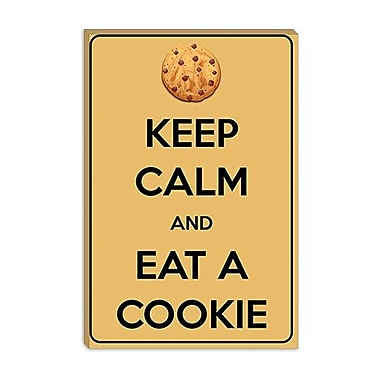 iCanvas Keep Calm and Eat a Cookie Graphic Art on Canvas; 26'' H x 18'' W x 1.5'' D