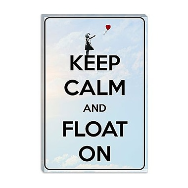 iCanvas Keep Calm and Float on Graphic Art on Canvas; 60'' H x 40'' W x 1.5'' D