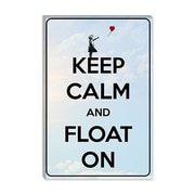 iCanvas Keep Calm and Float on Graphic Art on Canvas; 18'' H x 12'' W x 1.5'' D