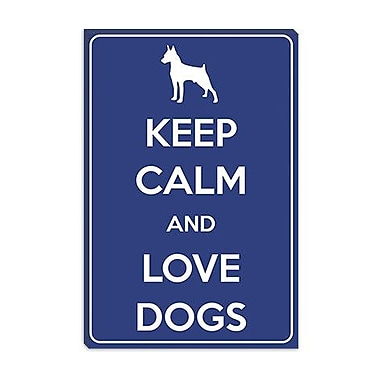 iCanvas Keep Calm and Love Dogs Graphic Art on Canvas; 26'' H x 18'' W x 0.75'' D
