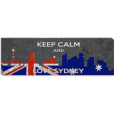 iCanvas Keep Calm and Love Sydney Graphic Art on Canvas; 30'' H x 90'' W x 1.5'' D