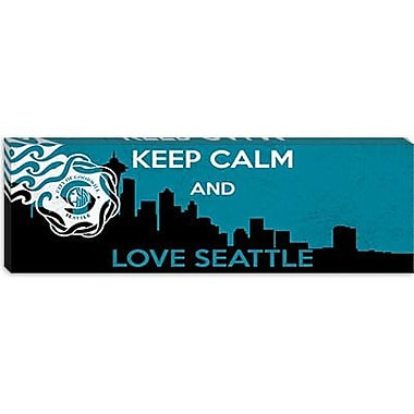iCanvas Keep Calm and Love Seattle Graphic Art on Canvas; 12'' H x 36'' W x 0.75'' D