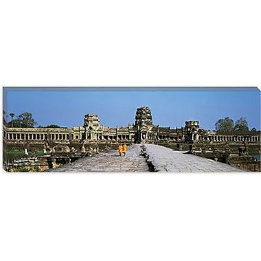 iCanvas Panoramic Angkor Wat Cambodia Photographic Print on Canvas; 24'' H x 72'' W x 1.5'' D