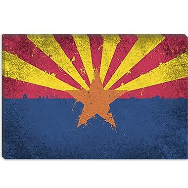 iCanvas Arizona Flag, Grunge Painted Graphic Art on Canvas; 12'' H x 18'' W x 1.5'' D