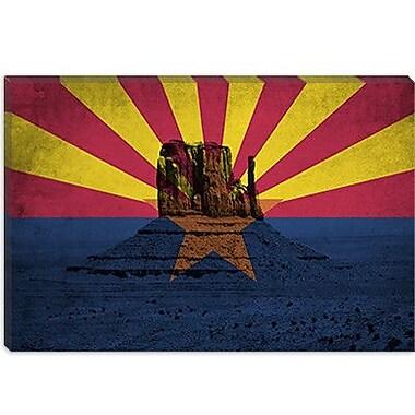 iCanvas Arizona Flag, Monument Valley Grunge Graphic Art on Canvas; 26'' H x 40'' W x 1.5'' D