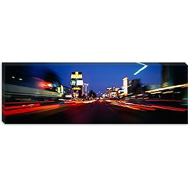 iCanvas Panoramic The Strip at dusk, Las Vegas, Nevada Photographic Print on Wrapped Canvas