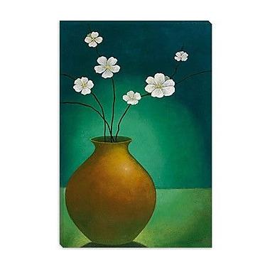 iCanvas ''Vase w/White Flowers'' by Pablo Esteban Canvas Painting Print; 18'' H x 12'' W x 1.5'' D