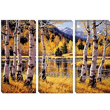iCanvas 'Autumn Reflections' by Randy Van Beek Painting Print on Canvas; 8'' H x 12'' W x 0.75'' D