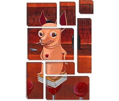 iCanvas 'Chi Bar' by Brian Rubenacker Graphic Art on Canvas; 18'' H x 12'' W x 0.75'' D
