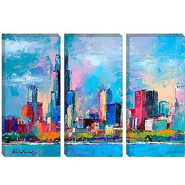 iCanvas 'Chicago 5' by Richard Wallich Painting Print on Canvas; 8'' H x 12'' W x 0.75'' D
