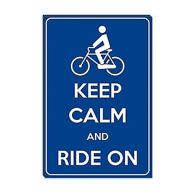 iCanvas Keep Calm and Ride on Graphic Art on Canvas; 12'' H x 8'' W x 0.75'' D