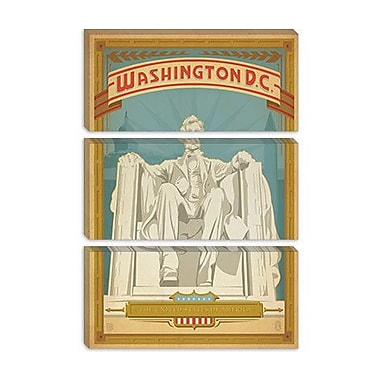 iCanvas Anderson Design Group 'Lincoln Monument - Washington, D.C.' Vintage Advertisement on Canvas
