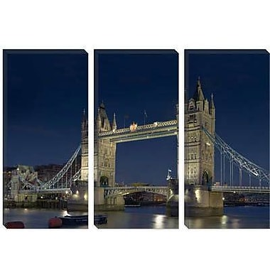 iCanvas Skylines and Cityscapes London Tower Bridge at Night Photographic Print on Canvas