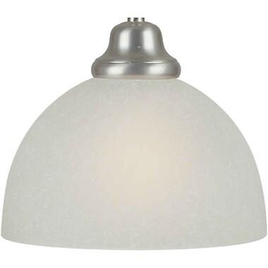 Forte Lighting 7.75'' Glass Bowl Pendant Shade; White Linen