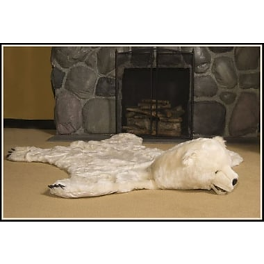 Queens of Christmas White Bear Area Rug