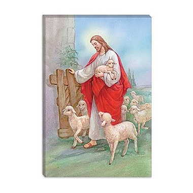 iCanvas 'Jesus Sheperd' by Christo Monti Painting Print on Canvas; 12'' H x 8'' W x 0.75'' D