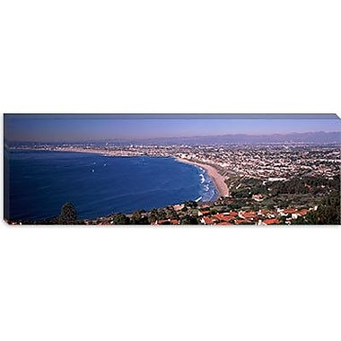 iCanvas Panoramic Aerial view of Santa Monica Beach, California Photographic Print on Canvas