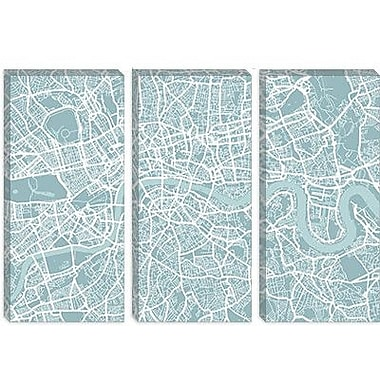 iCanvas 'London Map' by Michael Thompsett Graphic Art on Canvas; 12'' H x 18'' W x 1.5'' D