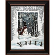 Artistic Reflections Snowball Fight by Michele Musser Framed Painting Print
