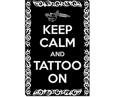 iCanvas Keep Calm and Tattoo on Graphic Art on Canvas; 18'' H x 12'' W x 1.5'' D
