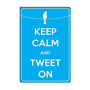 iCanvas Keep Calm and Tweet on Graphic Art on Canvas; 40'' H x 26'' W x 0.75'' D