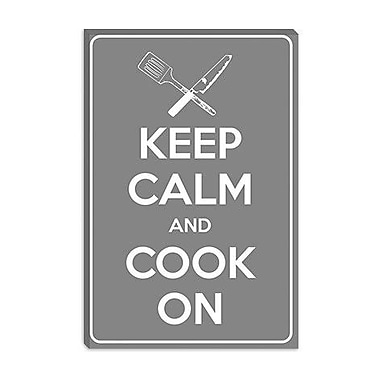 iCanvas Keep Calm and Cook on Textual Art on Canvas; 18'' H x 12'' W x 1.5'' D