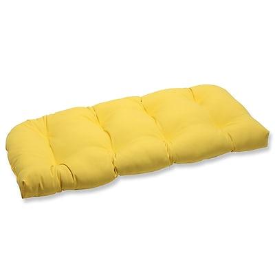 Pillow Perfect Fresco Outdoor Loveseat Cushion; Yellow