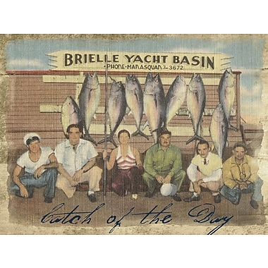 Graffitee Studios New Jersey Brielle Yacht Basin - Jersey Shore Graphic Art on Wrapped Canvas