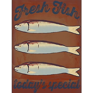 Graffitee Studios Coastal Fresh Fish Today's Special Vintage Advertisement on Wrapped Canvas