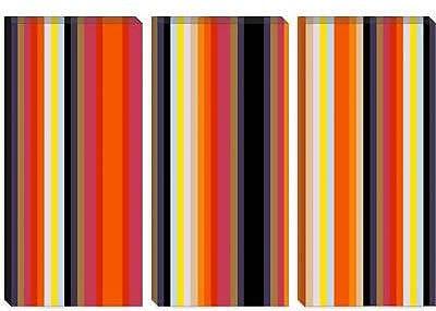 iCanvas Striped Burning Rassberyy Graphic Art on Canvas; 26'' H x 40'' W x 1.5'' D