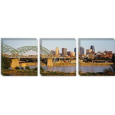 iCanvas Panoramic Bridge over a River, Kansas city, Missouri Photographic Print on Canvas