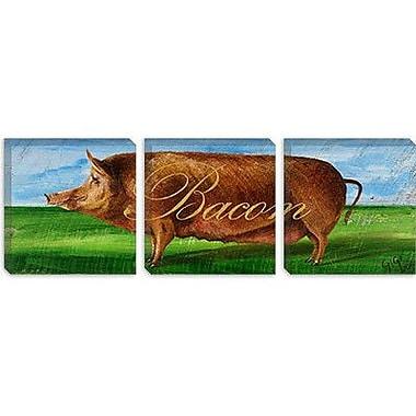 iCanvas Decorative Art ''Bacon'' by Gigi Begin Painting Print on Canvas; 16'' H x 48'' W x 1.5'' D