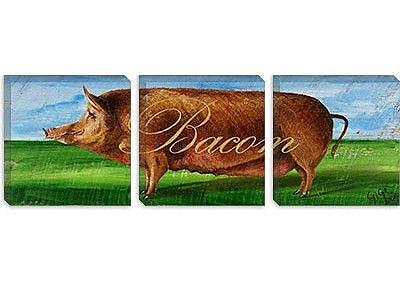 iCanvas Decorative Art ''Bacon'' by Gigi Begin Painting Print on Canvas; 20'' H x 60'' W x 0.75'' D
