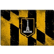 iCanvas Baltimore Flag, Grunge Painted Graphic Art on Canvas; 8'' H x 12'' W x 0.75'' D
