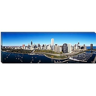 iCanvas Panoramic Boats Docked at a Harbor, Chicago, Illinois Photographic Print on Canvas