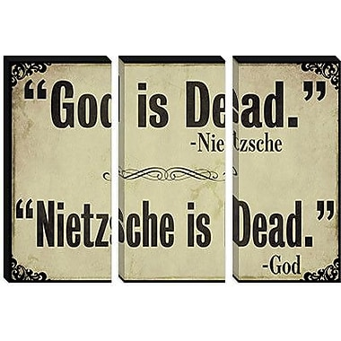 iCanvas Color Bakery God is Dead Graphic Art on Canvas; 18'' H x 26'' W x 0.75'' D