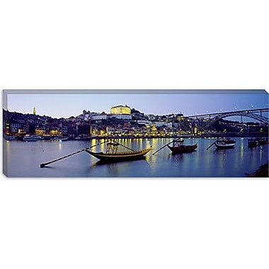 iCanvas Panoramic Boats Photographic Print on Canvas; 24'' H x 72'' W x 1.5'' D