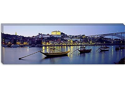 iCanvas Panoramic Boats Photographic Print on Canvas; 12'' H x 36'' W x 1.5'' D