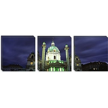 iCanvas Panoramic Austria, Vienna, Facade of St. Charles Church Photographic Print on Canvas