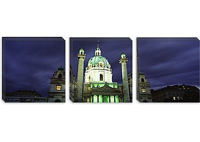iCanvas Panoramic Austria, Vienna, Facade of St. Charles Church Photographic Print on Canvas