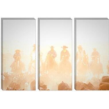 iCanvas 'Pushing the Herd' by Dan Ballard Photographic Print on Canvas; 26'' H x 40'' W x 1.5'' D