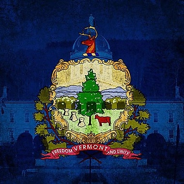 iCanvas Flags Vermont Capitol Building Graphic Art on Wrapped Canvas; 37'' H x 37'' W x 0.75'' D